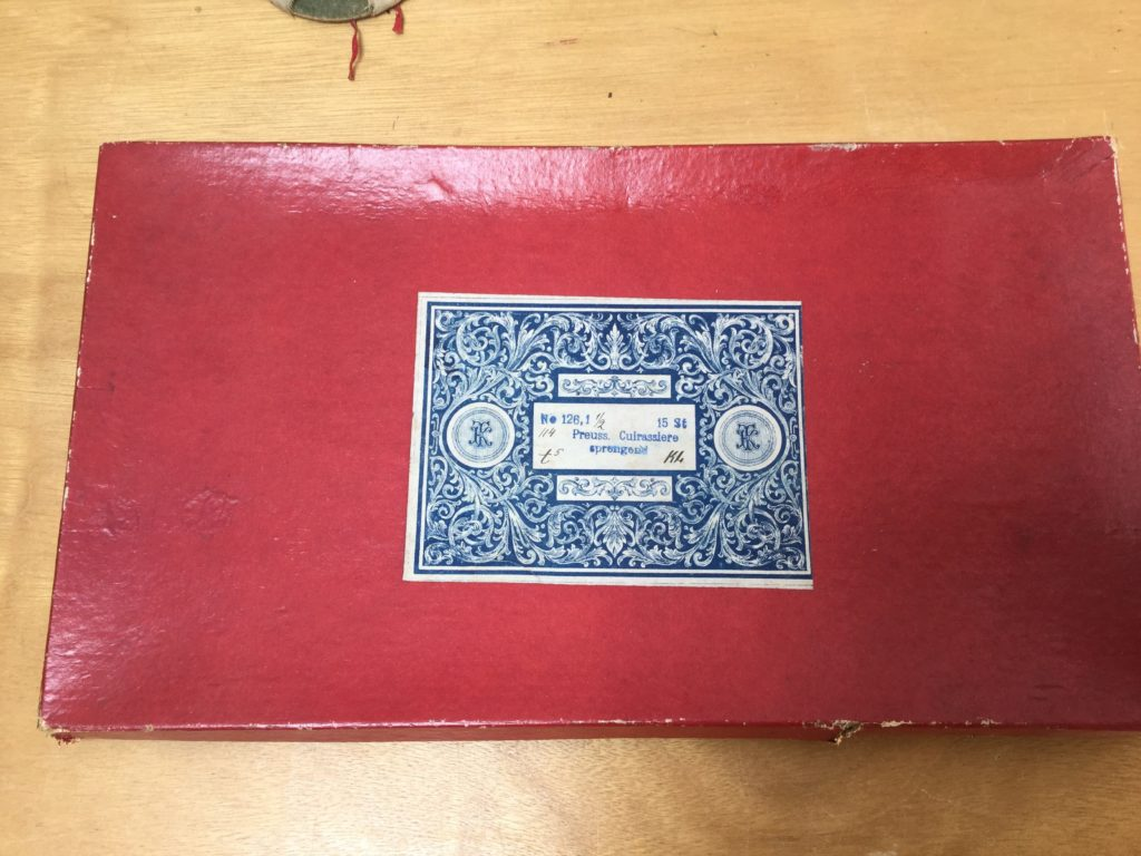 Theodore Krause set of tin soldiers box