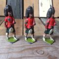 Britains 3x tin soldier England 1950