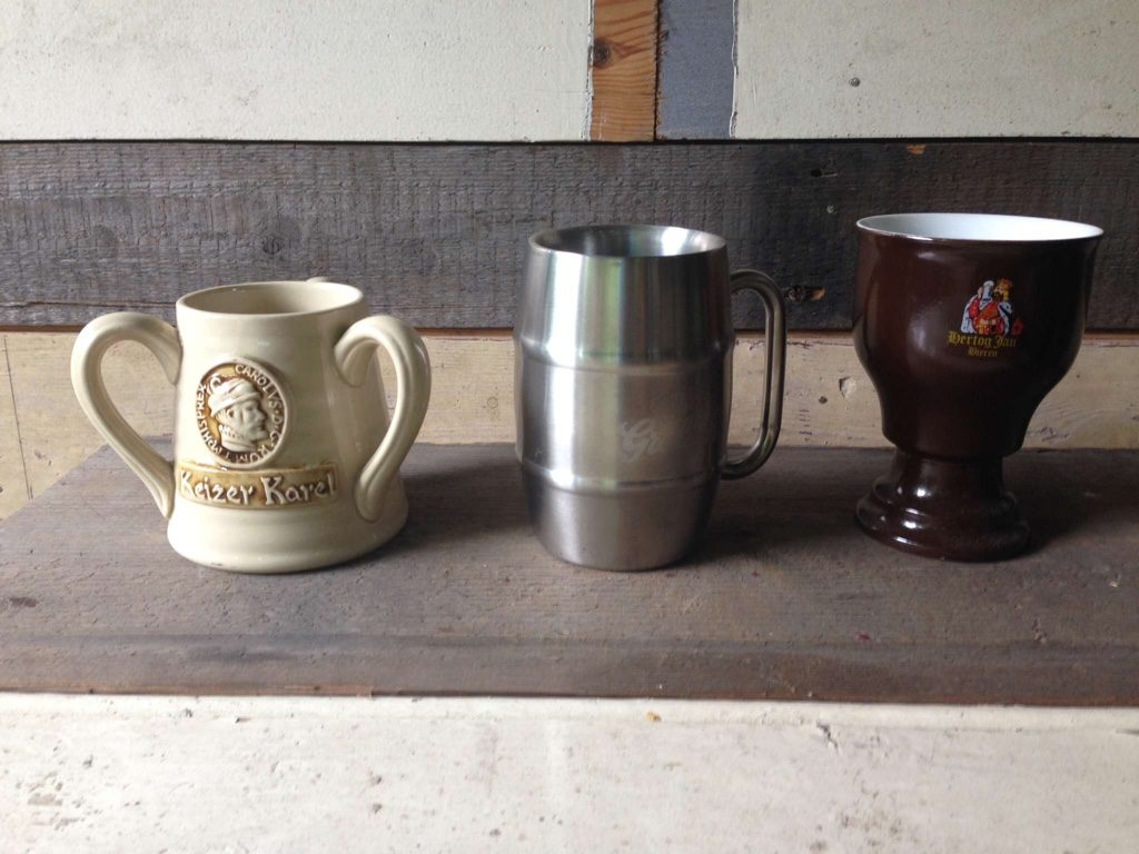 Very different materials in beer mugs