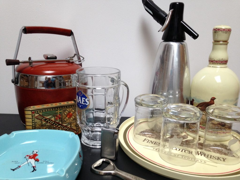 Vintage man stuff for your vintage bar and drinks