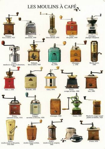 Collection of vintage coffee grinders