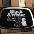 Black and white whisky tray 1970 Scotland