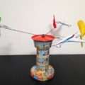 Schopper 5100 Tin toy Airport Germany 1970