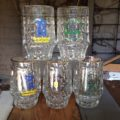 5 beer mugs 0,2 L Germany 1980