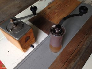 vintage vs new coffee hand grinder