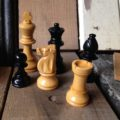 Chess pieces Homas Staunton wood Netherlands 1970