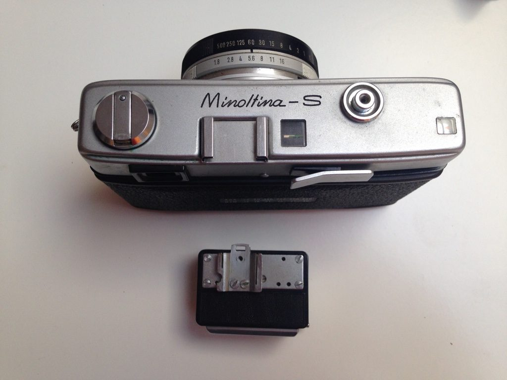 Minolta with integrated exposure meter