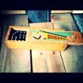 Black wooden dominoes 1950's wooden box