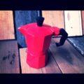 Red moka pot 1 cup 1990