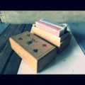 Wood 2 deck card box 1960 Holland
