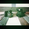 2 Polaroid land camera zip 635CL 1980