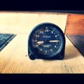 Lemania airplane 24 hour clock 1950