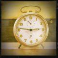 Silver Debove alarm clock 1960 France