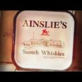 Ainslie's Scotch Whiskies serving waiter tray 1960 Scotland