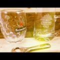 Heineken 2 Beer Mug 0,3 liter and opener 1980 Holland